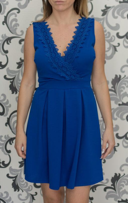 Къса синя рокля
