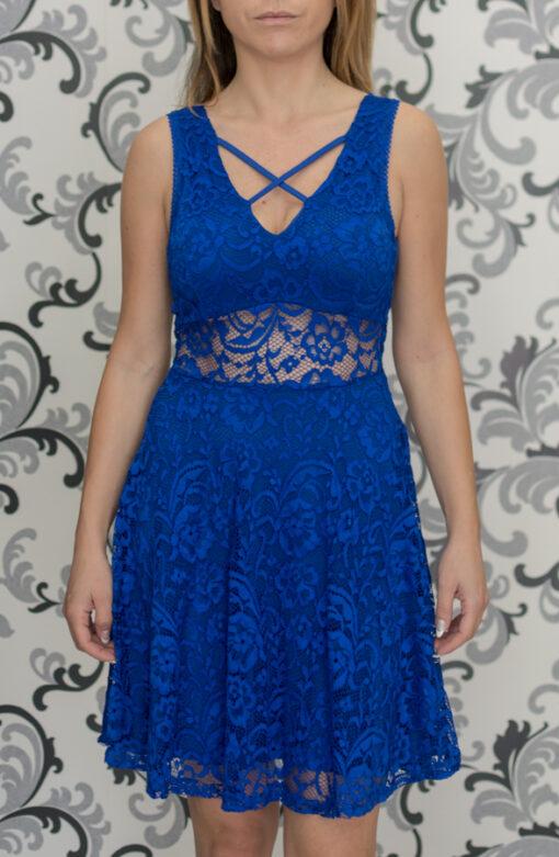 Дамска синя рокля