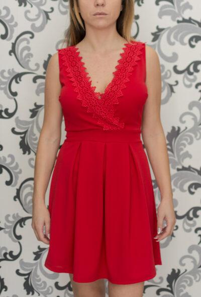 Червена рокля - дамска