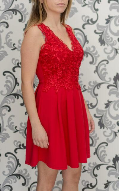 Червена къса рокля