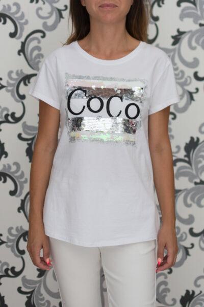 Дамска тениска с декорация