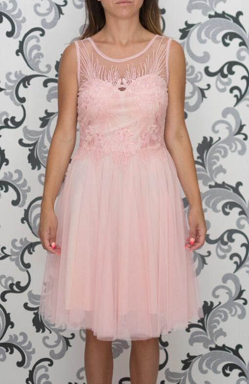 Официална розова рокля