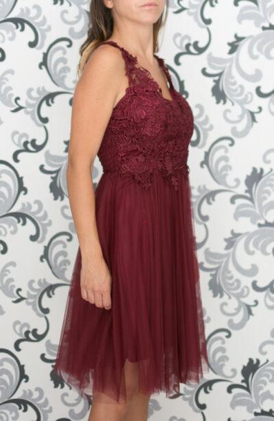 Официална рокля в цвят бордо