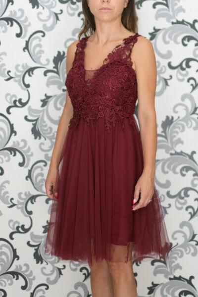 Официална рокля в бордо
