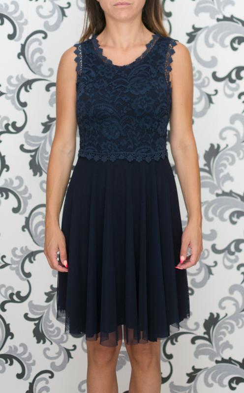 Дамска рокля в тъмносиньо