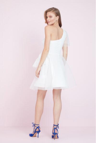 Дамска бяла рокля