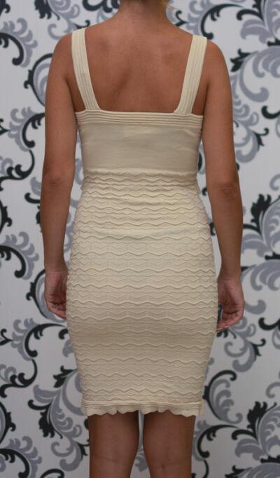 Плетена рокля - екрю