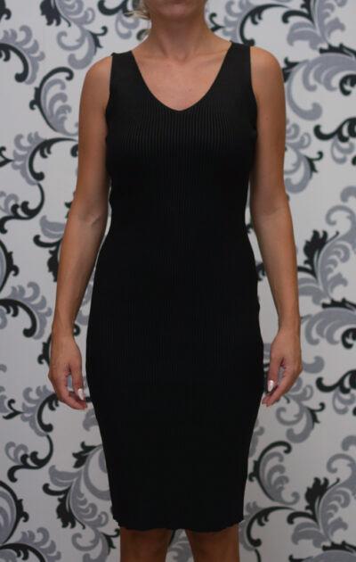Плетена черна рокля