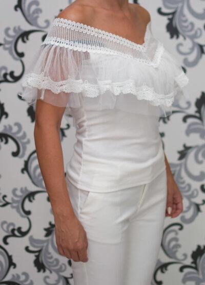 Дамска блуза с къдри