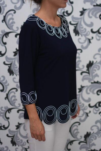 Дамска синя блуза