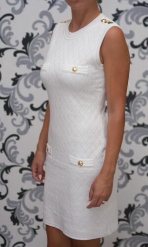Плетена бяла рокля