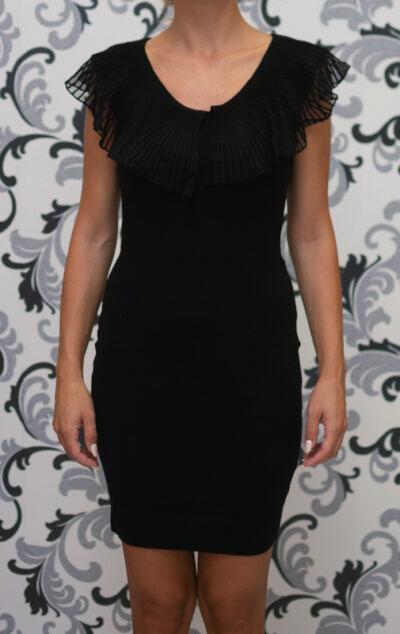 Плетена рокля в черно