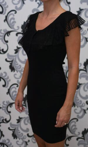 Черна вталена рокля