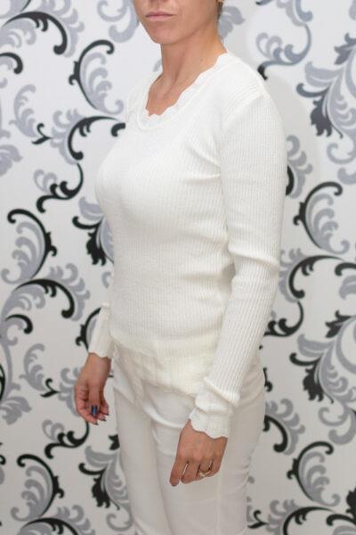 Плетена бяла блуза