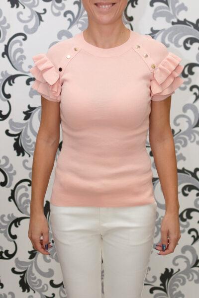 розова блуза с капси