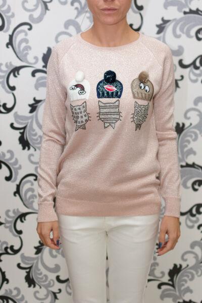 плетена блуза с декорация