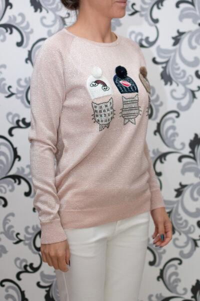 Плетена блуза с ламе