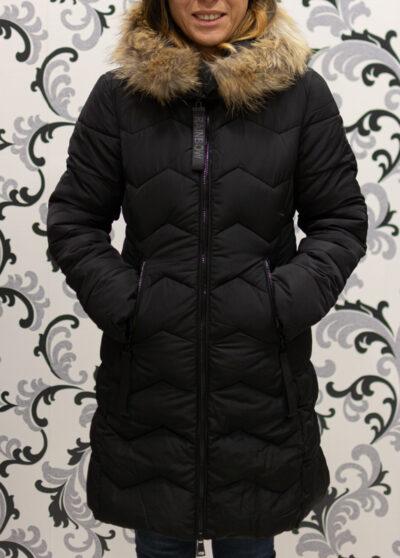 Черно дълго яке