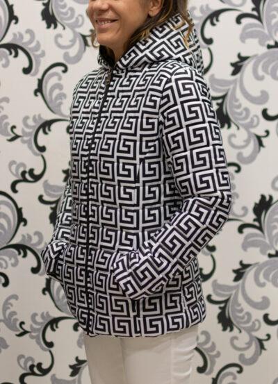 дамско яке - геометричен принт