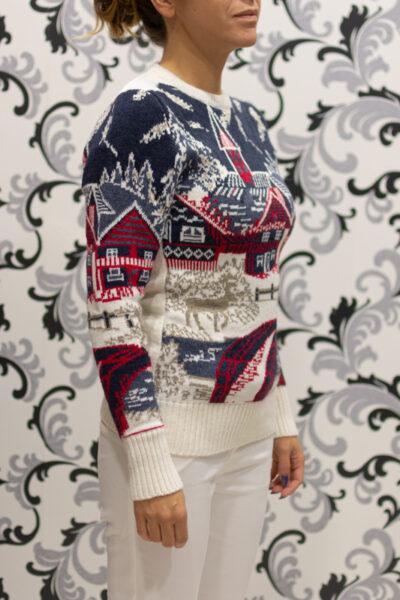 пуловер на коледна тематика