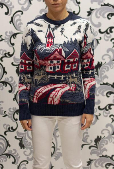 дамски коледен пуловер
