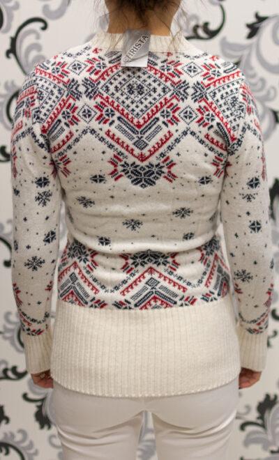 Коледен пуловер в бяло