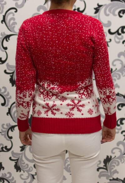 Червен коледен пулове