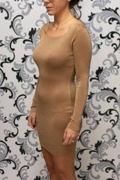 Плетена рокля с ламе