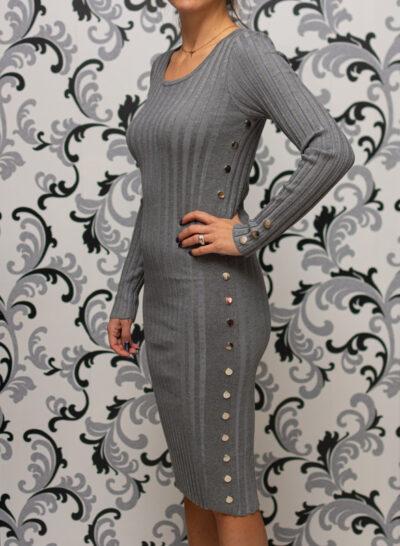 Плетена сива рокля