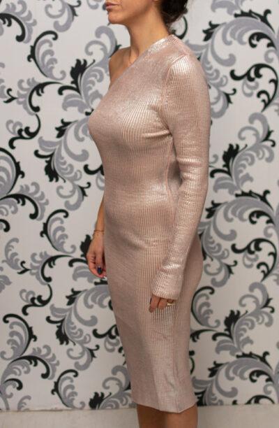 Розова рокля - фино плетиво
