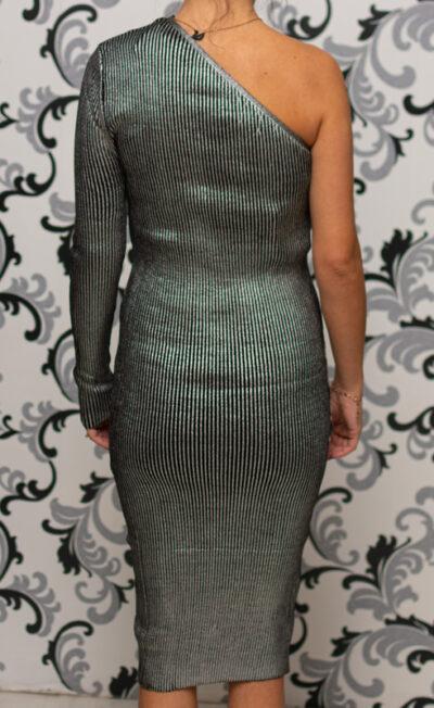 Плетена рокля с едно рамо
