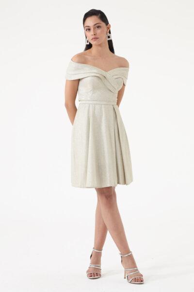 дамска рокля в златисто