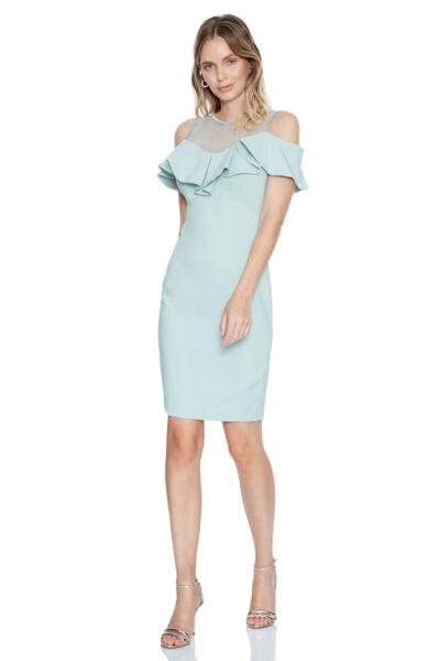 дамска рокля - мента