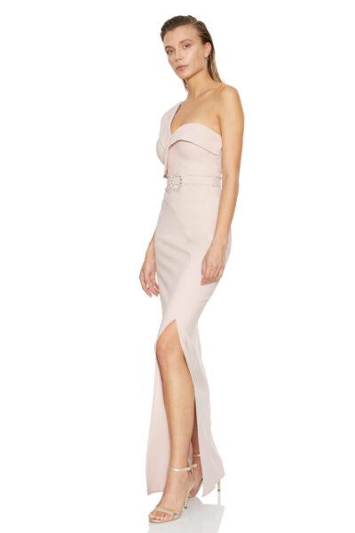 Розова дълга рокля - Fervente 3