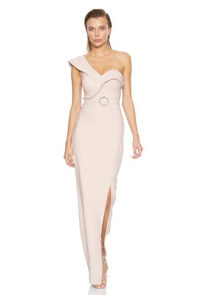 Розова дълга рокля - Fervente 1