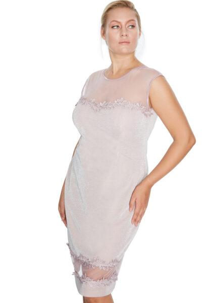 Розова рокля с тюл - Fervente 1