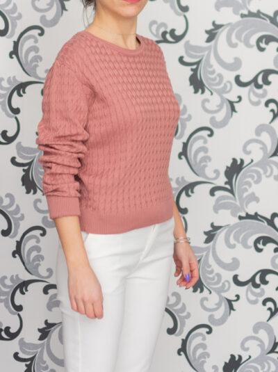 Плетена розова блуза