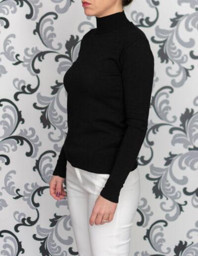 черно плетено поло
