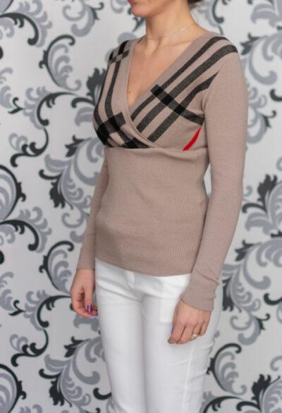 плетена блуза - каре