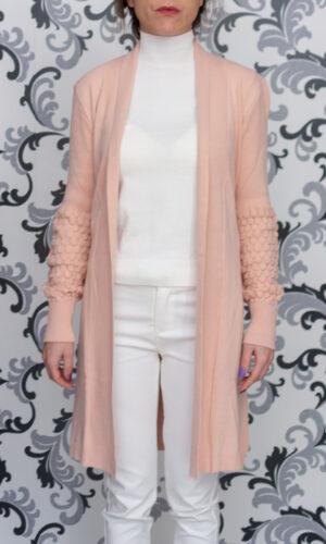 Дамска розова жилетка