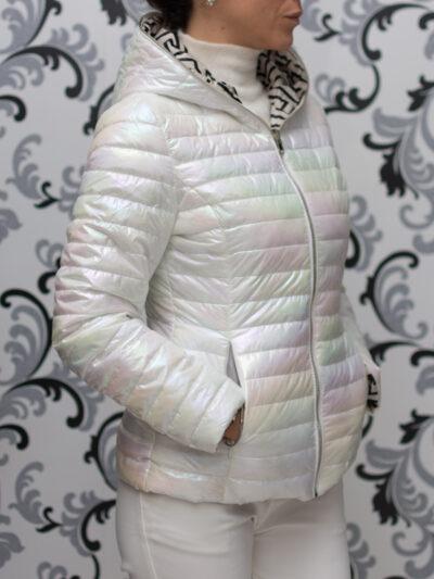 дамско яке - бял хамелеон
