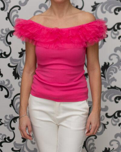 Цикламена дамска блуза