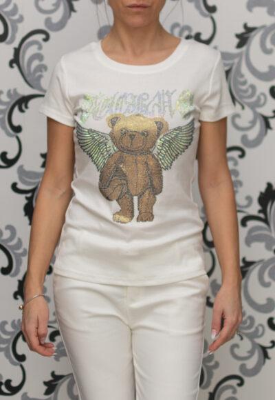 Дамска бяла тениска