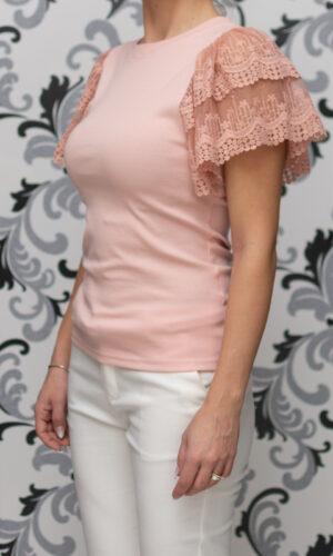 Розова дамска блуза