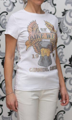 Бяла блуза - тип тениска