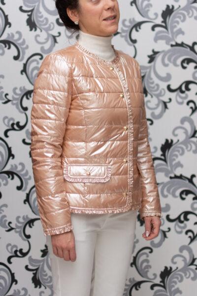 дамско розово яке с копчета