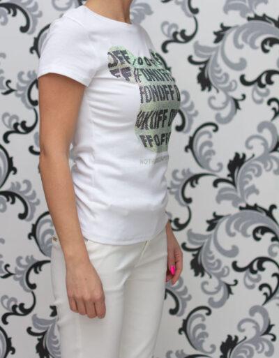Бяла дамска блуза