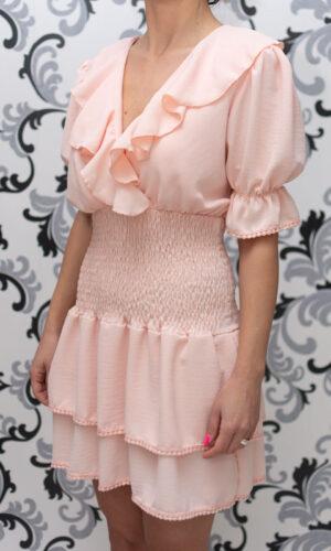 Дамска розова рокля