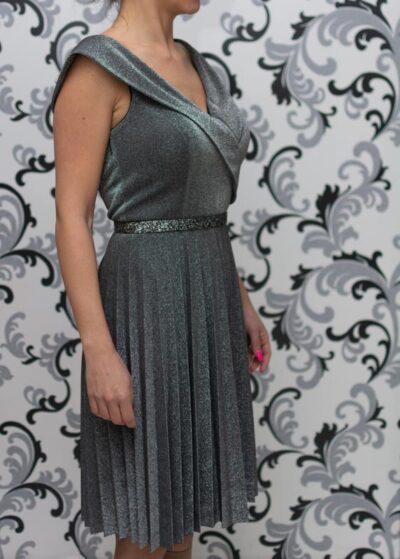 Сива дамска рокля