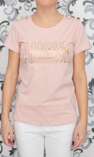 Дамска розова тениска